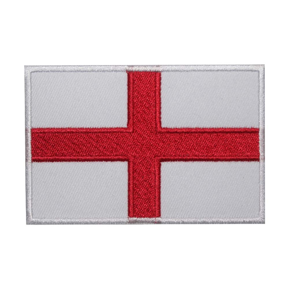 Real Empire Union Jack England British Flag Embroidery Patch//Badge Iron On Or Sew On Patch T-Shirt