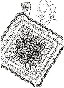 Vintage Crochet PATTERN to make - Irish Rose Pot Pan Holder Hot Pad Mat. NOT a finished item. This is a pattern and/or instructions to make the item only.
