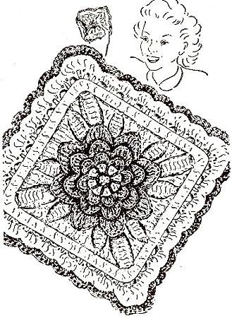 Amazon Vintage Crochet Pattern To Make Irish Rose Pot Pan