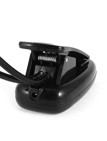 eDealMax PC Portátil brazo flexible con clip del USB 28 LED de luz de lectura lámpara de escritorio Negro - - Amazon.com