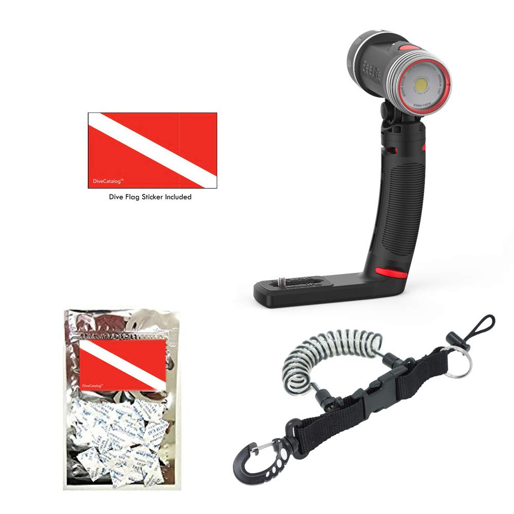 Sea Dragon 2000F COB LED UW Photo-Video-Dive Light Kit w Coil and Extras by SeaLife