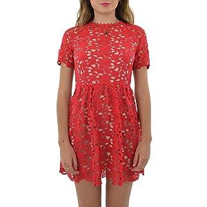 Stylestalker Kaia Circle Dress in Lipstick (Small, Lipstick)