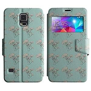 Be-Star Diseño Impreso Colorido Slim Casa Carcasa Funda Case PU Cuero - Stand Function para Samsung Galaxy S5 V / i9600 / SM-G900F / SM-G900M / SM-G900A / SM-G900T / SM-G900W8 ( Amazing Pattern )