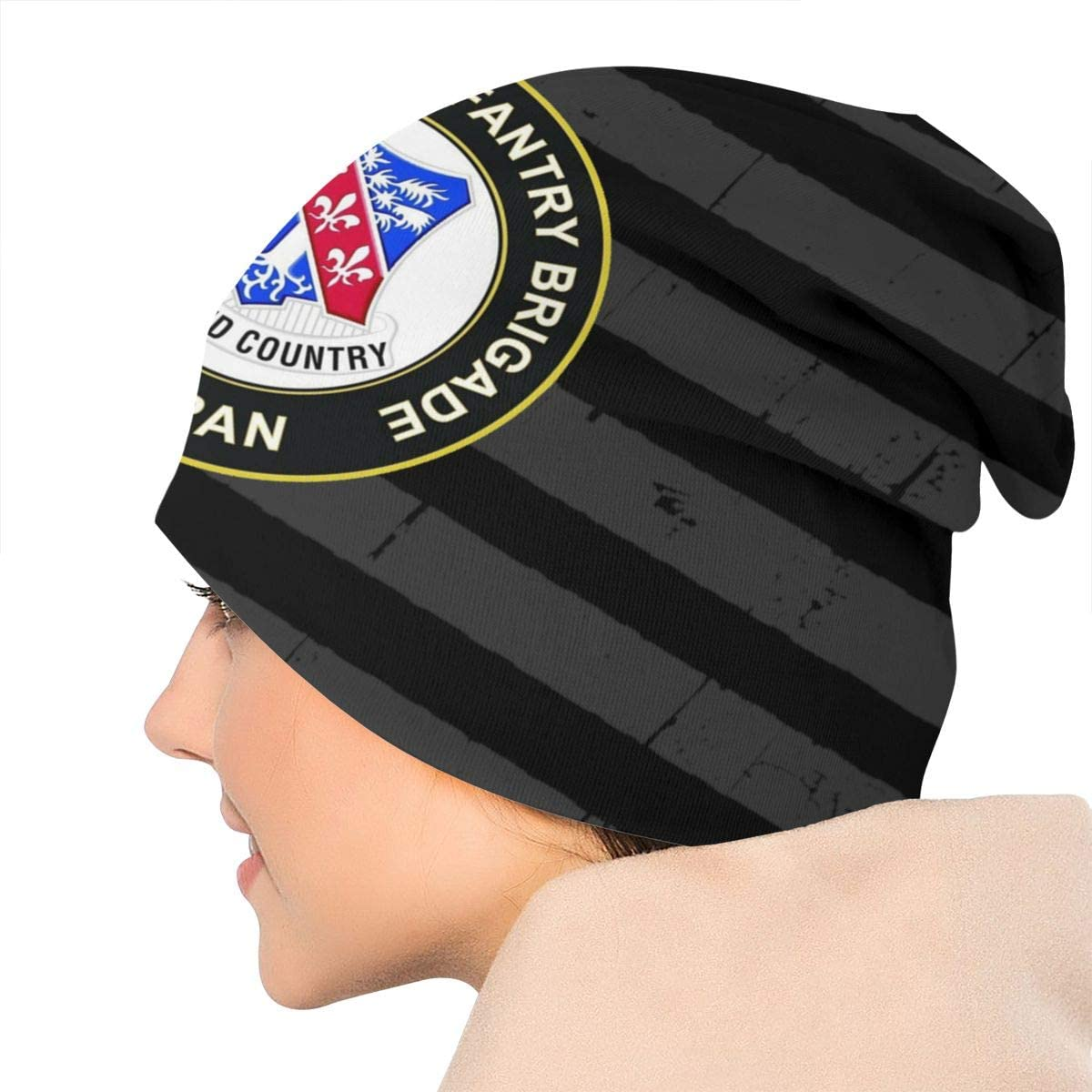 US Army 327th Infantry Brigade Veteran Unisex Warm Hat Knit Hat Skull Cap Beanies Cap