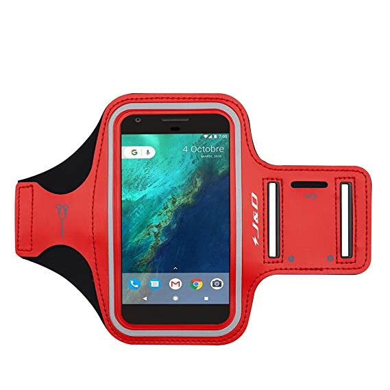 Google Pixel XL Armband, J&D Sports Armband for Google Pixel XL, Key holder Slot