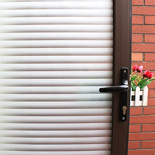 Mikomer Privacy Blinds Window Film,Stained Glass Door Film,Static Cling Window Tint,Heat Control Anti UV Removal Window Cling