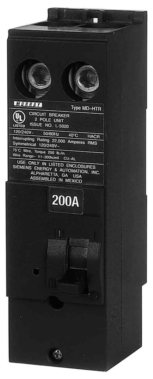 Murray MPD2200RH 22 kaic rated 200-Amp Plug In Breaker