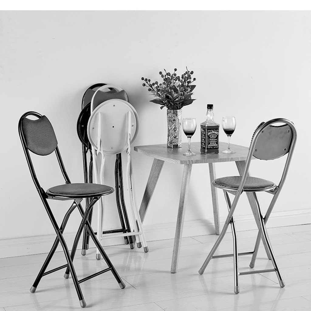 Amazon.com: Folding Chairs Dining Chair Round Stool Folding Stool ...