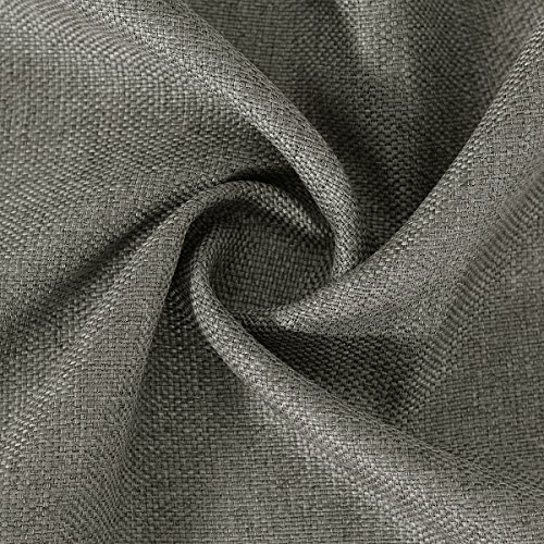 Faux Linen Blackout Curtains 84 inch length Window Treatments Curtains for Living Room Burlap Fabric Heavy Weight Textured Linen Curtain Drapes for Bedroom, 52 by 84 Inch-Taupe Gray (1 Panel)