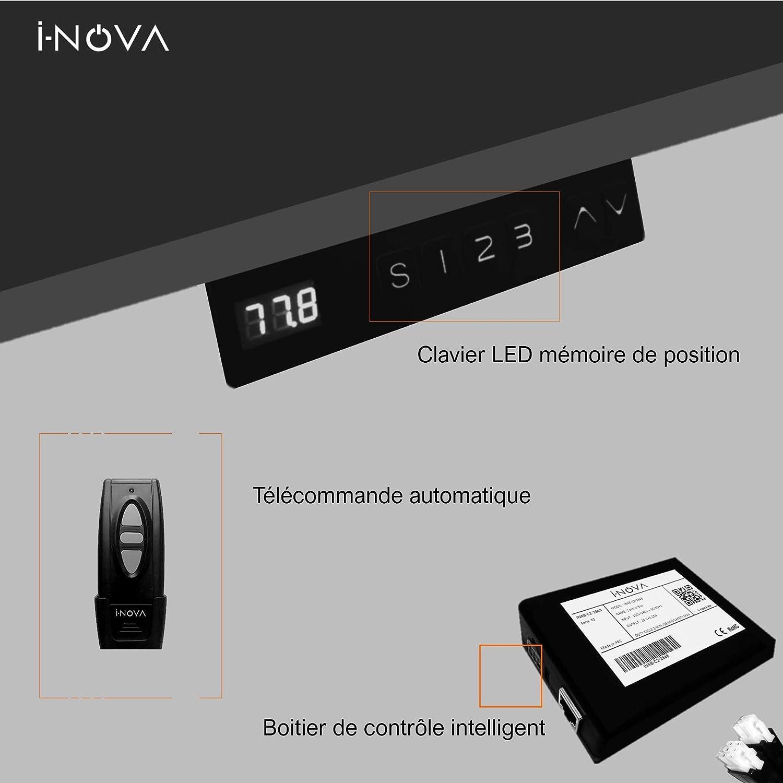 I-NOVA Support TV motoris/é Ascenseur pour t/él/éviseur 32-70 TV Lift 820 mm X8SB 3 m/émoires de Position Clavier Intelligent Poids Max 70 kg Ultra Silencieux