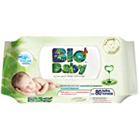 Bio Baby toallitas húmeda, 12 paquetes con 80 piezas (960 toallitas)