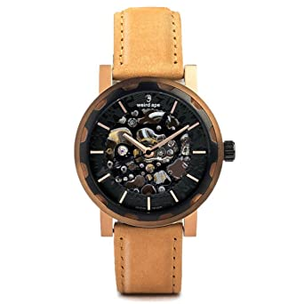 Gifts For Him   Steampunk Watch Rose Gold / Leather Tan Watch