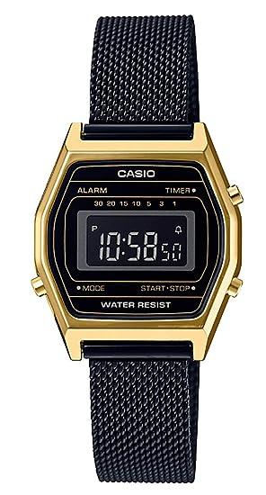 Casio Reloj Digital para Mujer de Cuarzo con Correa en Acero Inoxidable LA690WEMY-1EF: Amazon.es: Relojes