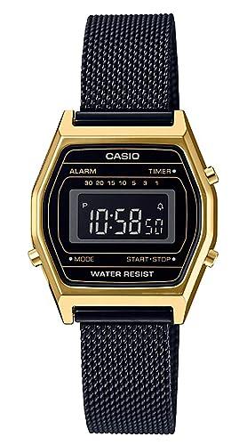 Casio Reloj Digital para Mujer de Cuarzo con Correa en Acero Inoxidable LA690WEMB-1BEF: Amazon.es: Relojes