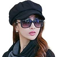 Ambysun Ladies Newsboy Cabbie Beret Cap Bakerboy Visor Peaked Winter Ivy Flat  Hat for Women ce17d62a75d