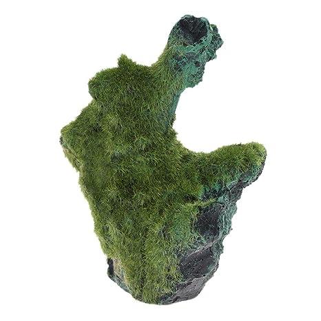 Adornos para acuario con forma de árbol de musgo para decoración de peceras