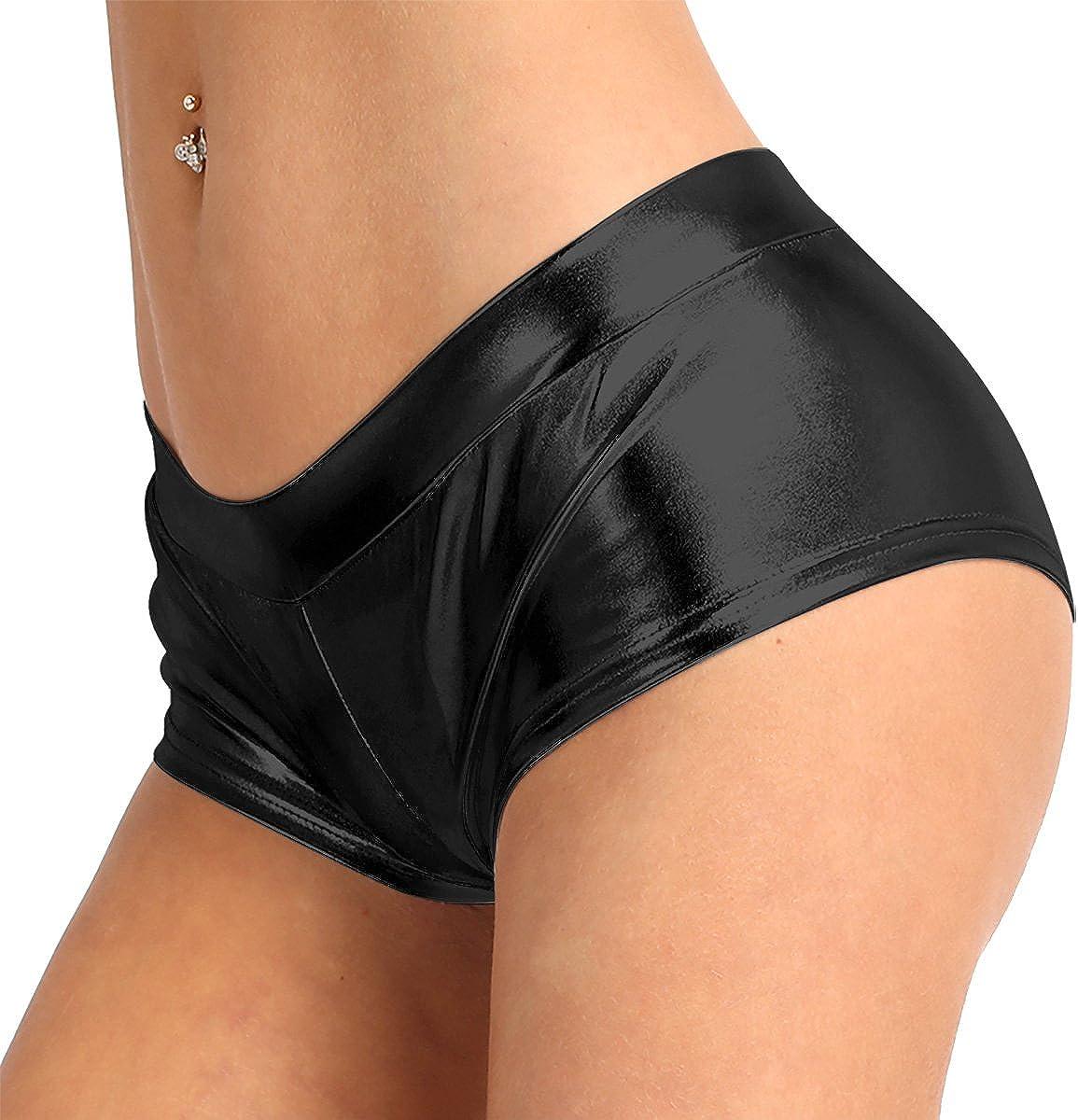 Women Chic Hot Shorts Pants Metallic Leather Shiny Short Pants Slim Hipster HOT
