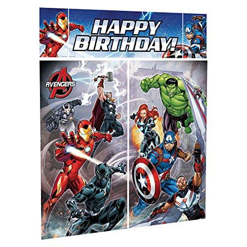 [5 Piece Avengers Epic Superhero Birthday Party Scene Setter Decoration Kit] (Superheroes In The Avengers)