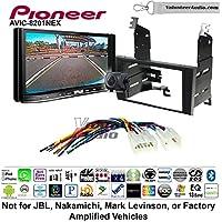 Volunteer Audio Pioneer AVIC-8201NEX Double Din Radio Install Kit with GPS Navigation Apple CarPlay Fits 1998-2005 Lexus GS Series