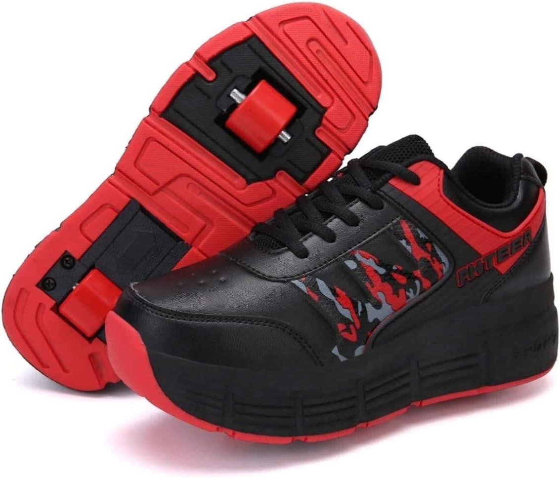 Zapatillas con Ruedas Automática Calzado de Skateboarding Zapatillas de Skate con Ruedas Deportes Zapatos Patines en Línea con Automática Ruedas Ajustables Apto para Adultos y niños, Aire Libre Gimnas: Amazon.es: Deportes y