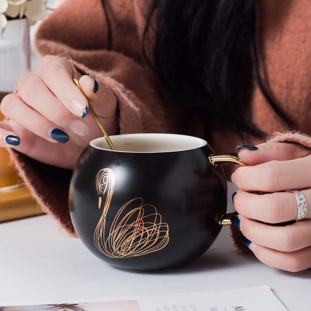 Tazza da caff/è in ceramica ottimo regalo per la famiglia e gli amici delizioso set regalo Cup-1 bianco//nero//marrone capacit/à massima 500 ml cucchiaino da caff/è