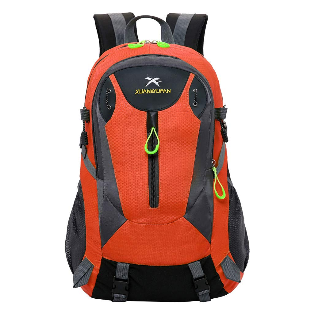 YunZyun Sport Backpack Water Resistant Travel Backpack Rucksack for Outdoors Hiking Gym Camping Trekking Military Tactical Bag (Red) by YunZyun