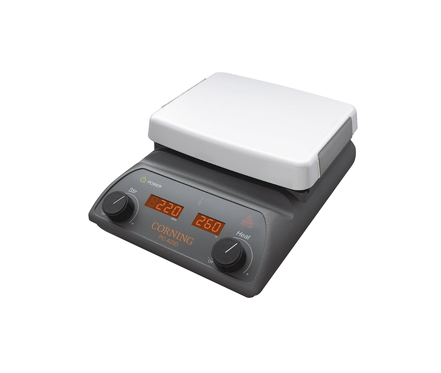 Corning 6795-620D 10 x 10'' Top PC-620D Stirring Hot Plate with Digital Displays, 120V/60Hz (1 Each), Milliliters, 5 to 500°C (41 to 1022°F) Degree C, Pyroceram Glass-Ceramic, (