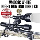 Wicked Lights W403iC White Night Hunting Light Kit for Predator, Varmint & Hog Complete Red led Light kit Review