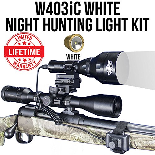 Wicked Lights W403iC White Night Hunting Light Kit for Predator, Varmint & Hog Complete Red led Light kit Review