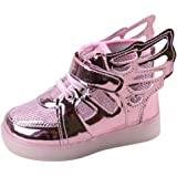 Sunching Toddler Boys Girls LED Sneakers Light Up Chaussures Avec Angel Wings