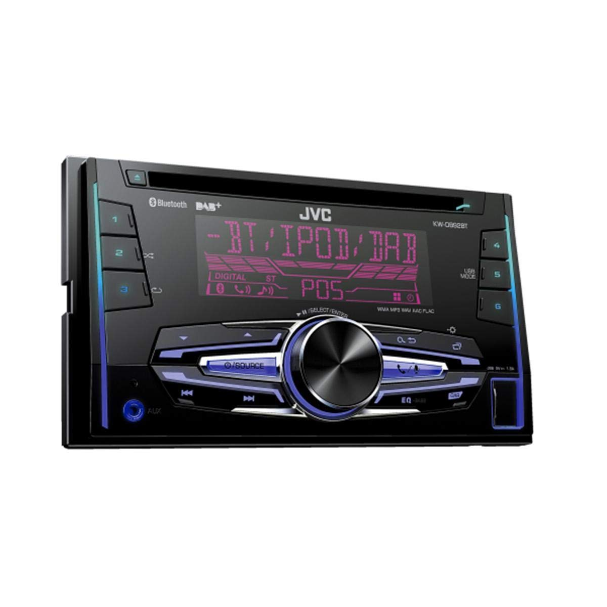 JVC KW-DB92BT Double Din Stereo with Bluetooth, DAB, USB, CD and Aux