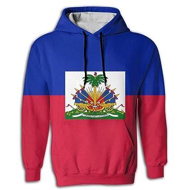 Sheery Haitian Flag Pullover Sweatshirt Full Zip Hoodie Sweatshirt