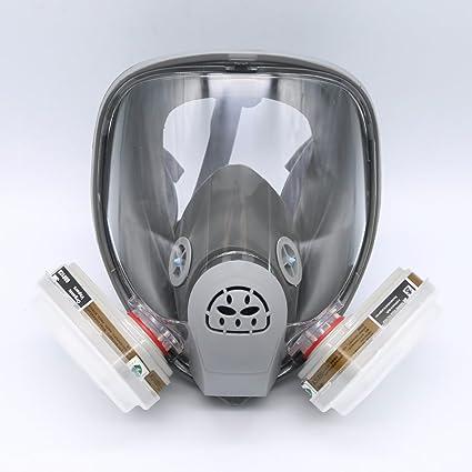 Máscara gas 3M 6800, máscara de respiración de cara completa, kit de 7 piezas
