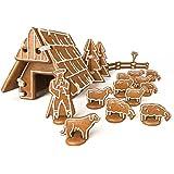 Moldes de casas para pesebres navideños