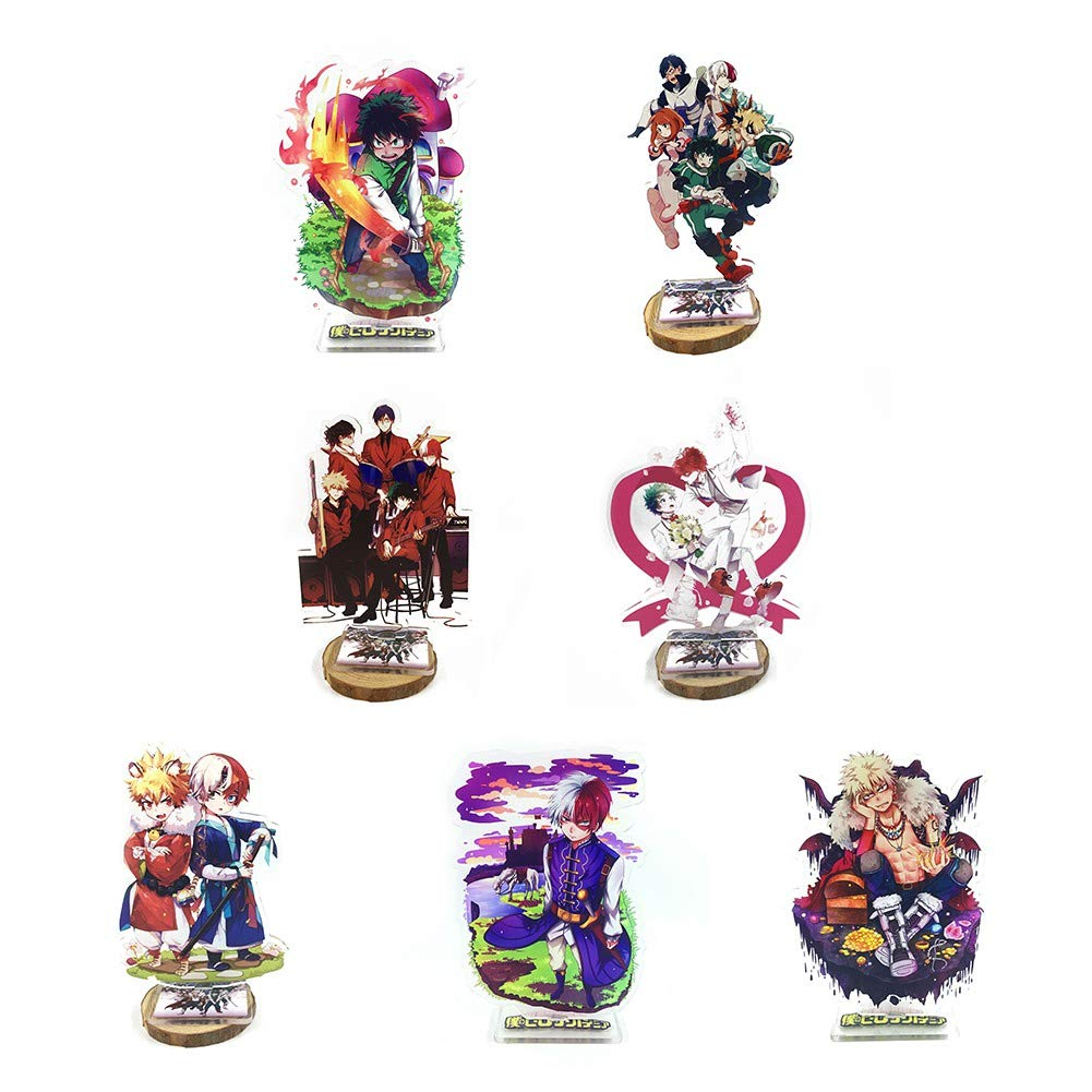 Raleighsee My Hero Academia Anime Acrylic Standing Figure Double-Sided Transparent Big Desk Stand Miniature Action Figure Decoration Anime Fans Gift( 7 Set) by Raleighsee