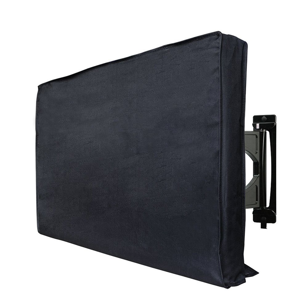 HAOCOO Outdoor TV Cover, Durable Weatherproof Protector, Designed for LCD, LED and Plasma Screen TV with Remote Controller Pocket, Fits Most Stands Standard Wall Mounts (40''-42'', Black) by HAOCOO