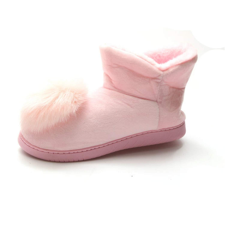Kongsta Plush Ball Women Snow Boots Faux Fur Ankle Boots for Female Casual Footwear Plus Size Platform Fashion Flat Shoes