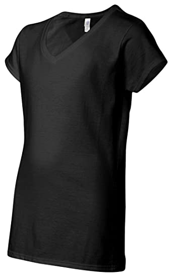 c492381c Gildan G64V00L Softstyle Ladies V-Neck Tee at Amazon Women's Clothing store: