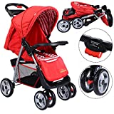 New For Baby Foldable Baby Kids Travel Stroller Newborn Infant Buggy Pushchair Child Red- PUNER Store