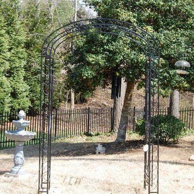 Arched Garden Gate (Majestic Garden Arbor With Gate)