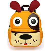 Hipiwe Little Kid Toddler Backpack Baby Boys Girls Kindergarten Pre School Bags Cute Neoprene Cartoon Backpacks for Children 1-5 Years Old (Puppy)