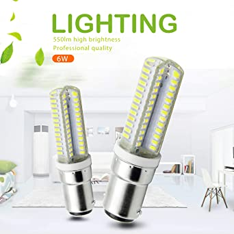 Ymm Bombilla LED B15D 6W LED Blanco Frío 6000K Non-Dimmable ...