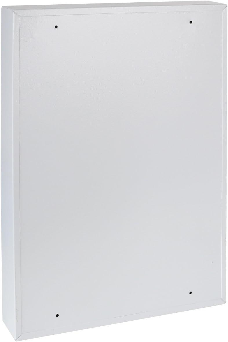 lichtgrau HMF 13564-07 Schl/üsselschrank 64 Haken verstellbare Hakenleisten 45,0 x 30,0 x 8,0 cm