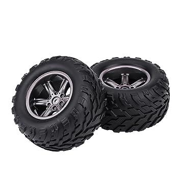 Alomejor - Juego de 2 Llantas de neumáticos para Carrito de ...