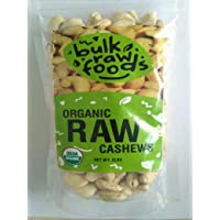 Organic Raw Whole Cashews 2lbs Unsalted 100% Premium Large Organic Packs by BulkRawFoods