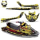Kawasaki STX1100 Sport Tourer 1997-1999 Decal Graphic Kit Jet Ski Wrap STX 1100 REAPER YELLOW