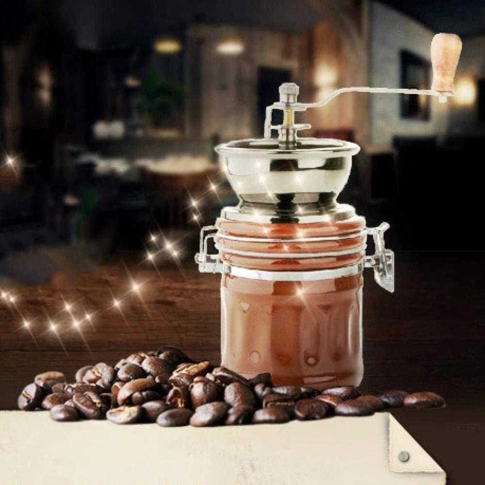 Coffeefree Keramische Handm/ühle F/ür Den Hausgebrauch,Vintage Style Holz Kaffeem/ühle Schleifen Riesenrad Design Hand Kaffeemaschine Maschine