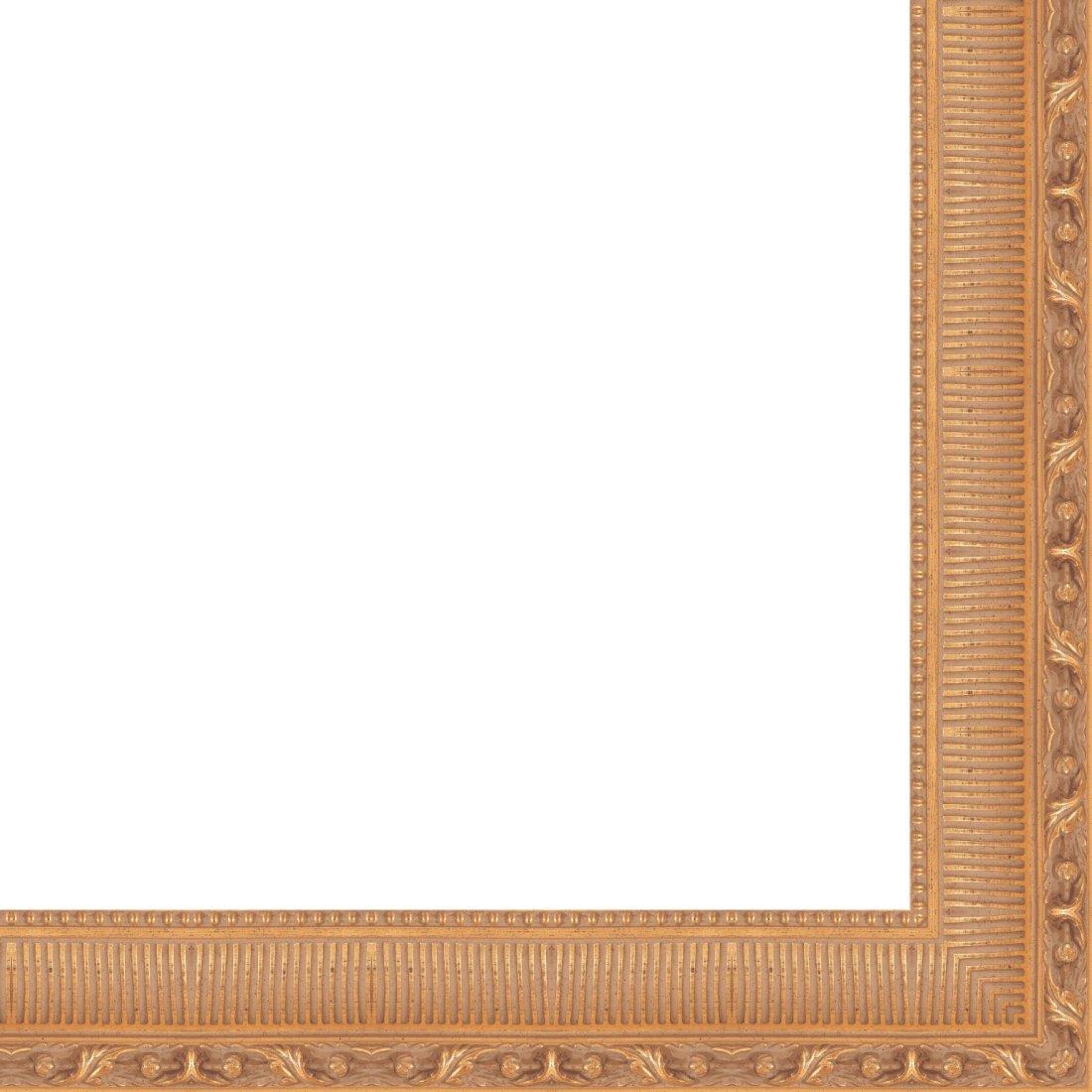 Picture Frame Moulding (Wood) 18ft bundle - Traditional Antique Gold Finish - 4.5'' width - 5/8'' rabbet depth