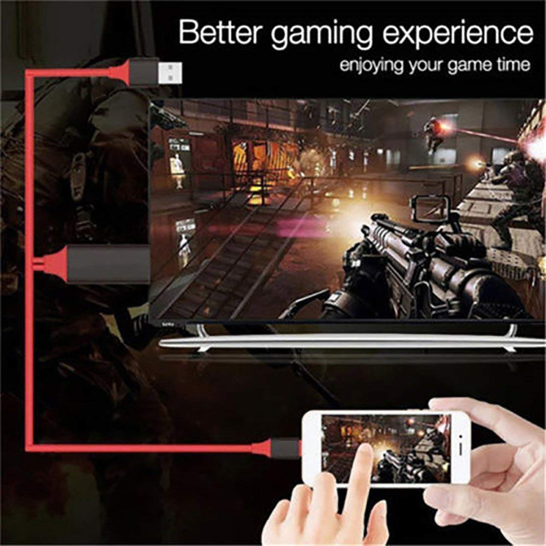 1080P HDTV Adapter HDMI Cable Male to USB 2.0 Man /& Woman HDMI HD Video Converter Code for iPhone Smartphone Android Phones