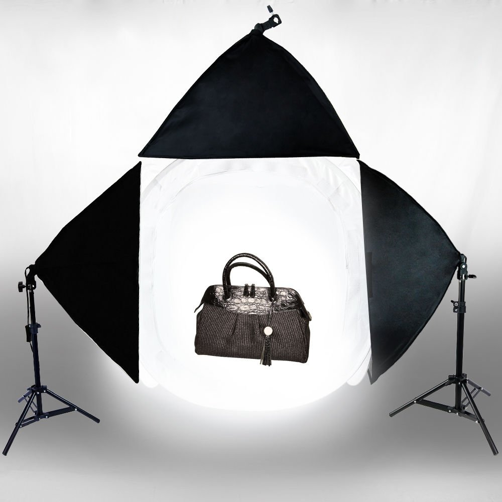Photo Studio 30'' Photography Light Tent Backdrop 3x Softboxes Kit Cube Lighting by Aftermarket
